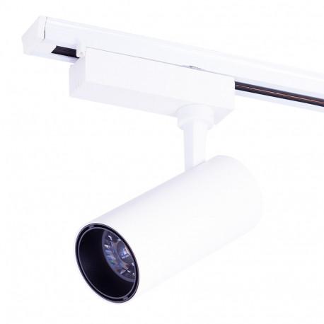 Faretto LED da Binario Monofase Bianco 30W 3000Lm 30.000H Lumiastra -