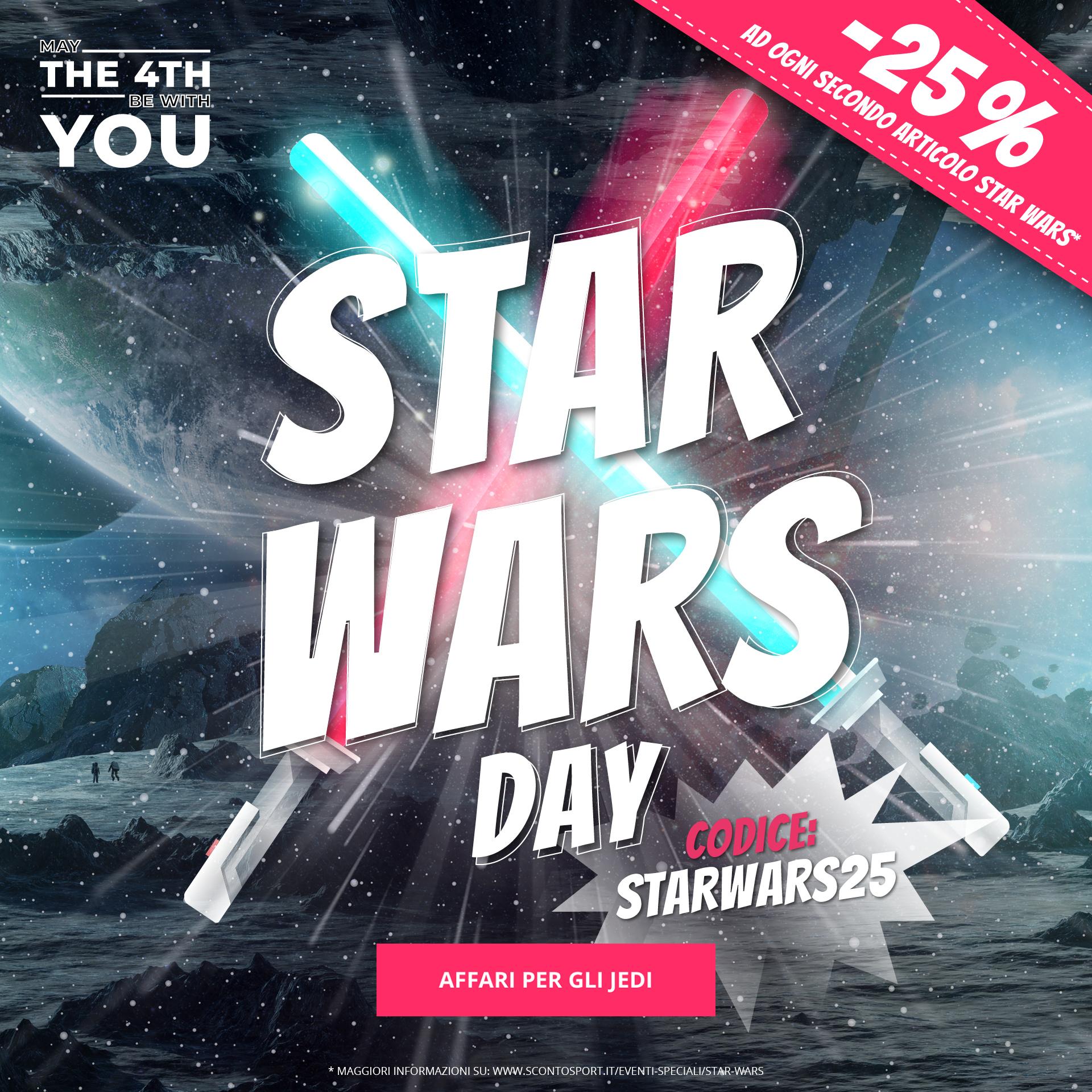 Star Wars Day: -25% ad ogni secondo articolo Star Wars