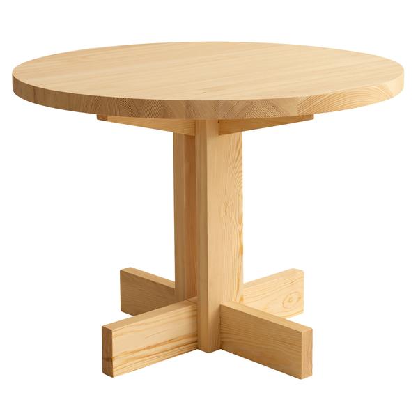 Tavolo da pranzo 002, rotondo, pino