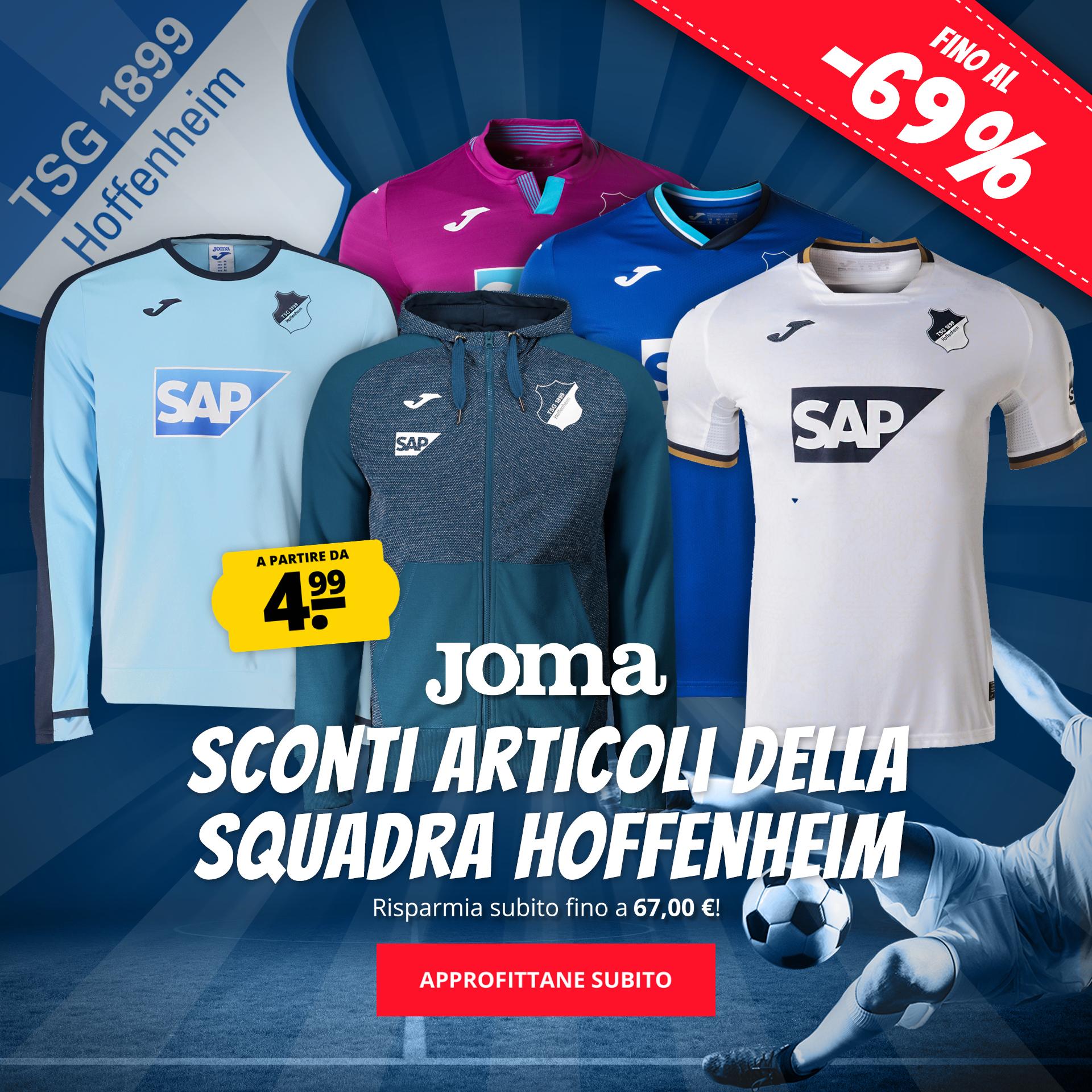 Joma Sconti articoli della squadra Hoffenheim a partire da 4,99 €