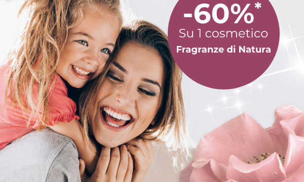 60% di sconto su 1 cosmetico fragranze di natura