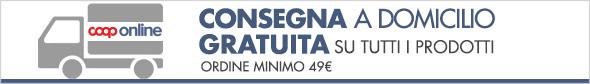 Consegna gratuita sopra i 49€