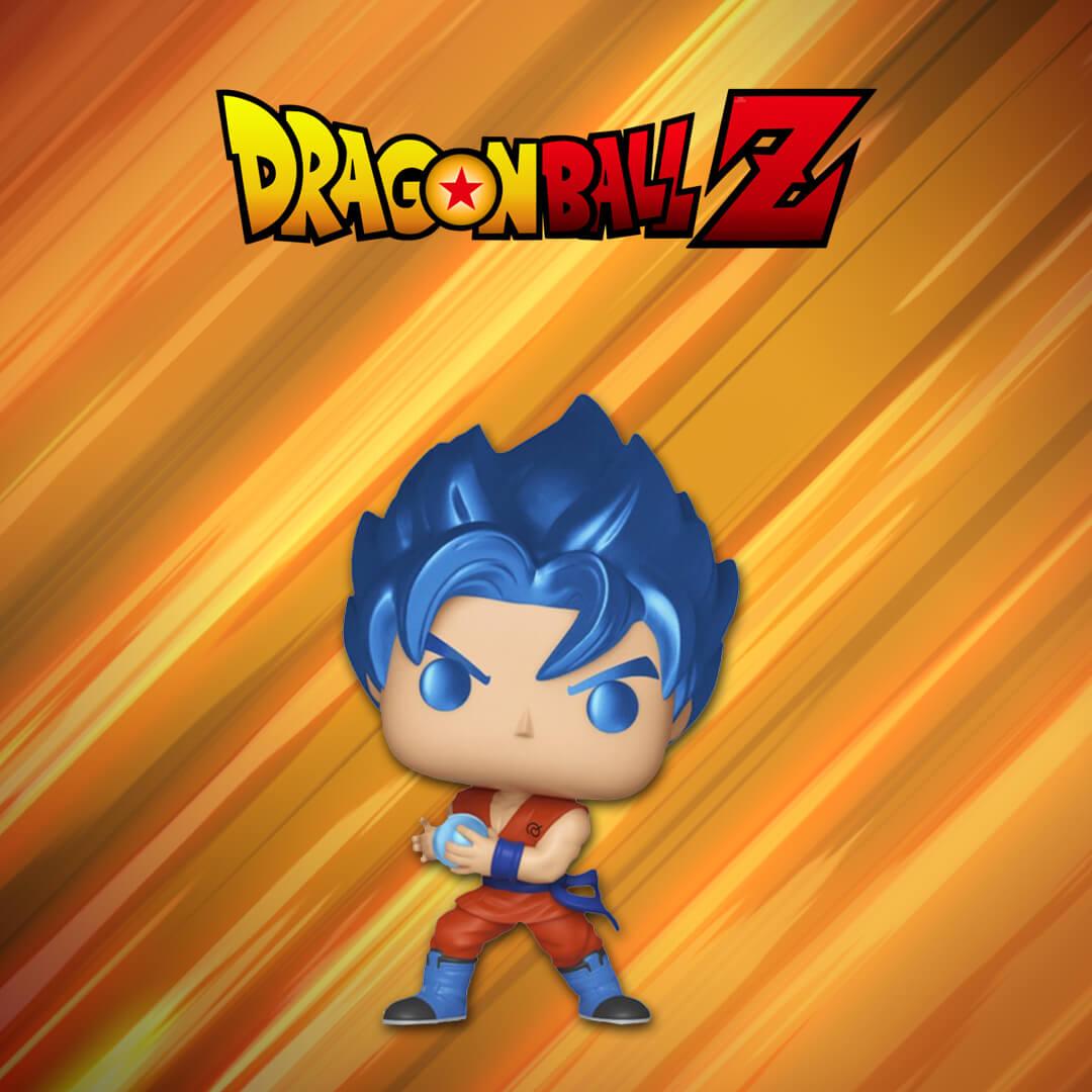 Dragon Ball Super Super Saiyan Goku con Kamehameha Metallic EXC