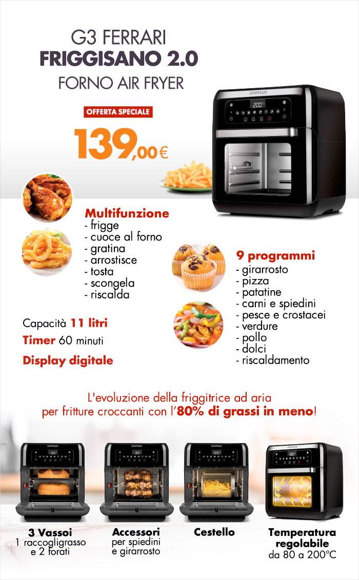 Friggitrice G3 FERRARI a 139€