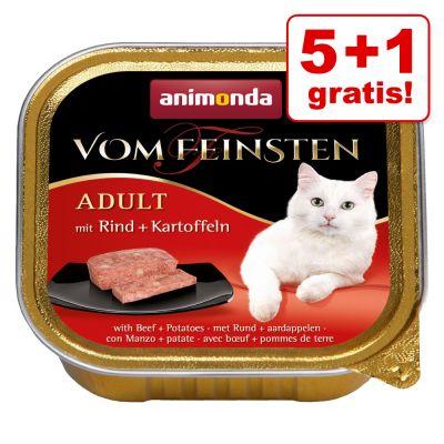 5 + 1 gratis! 6 x 100 g Animonda vom Feinsten