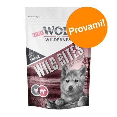 Prezzo prova! 180 g Wolf of Wilderness Wild Bites Snack per cani