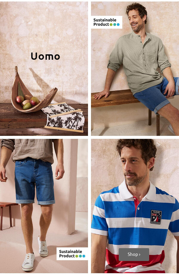Abbigliamento sostenibile >