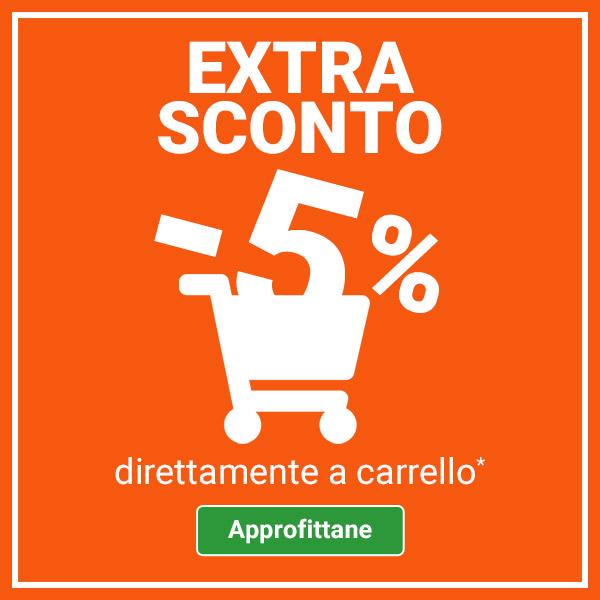 Extra 5% a carrello