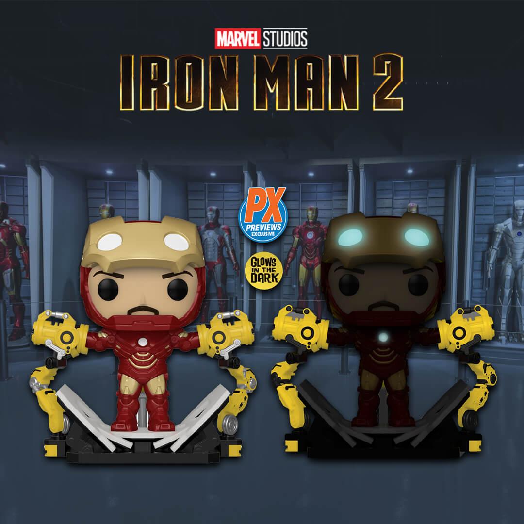 PX Previews Marvel Iron Man Mark IV w/ Gantry (MT) EXC