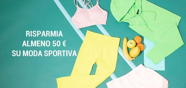 Risparmia almeno 50 € su moda sportiva