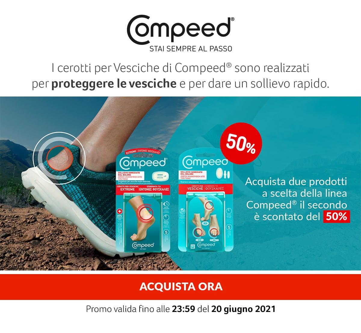 Compeed. -50% sull'acquisto del secondo prodotto