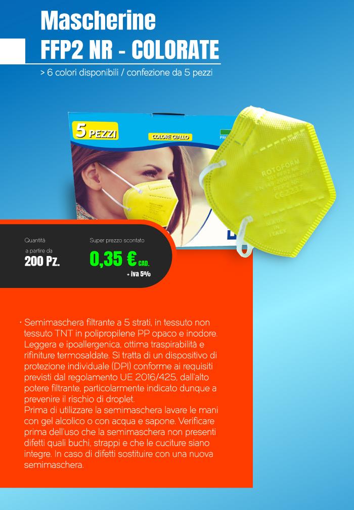 Offerta Mascherine FFP2 colorate