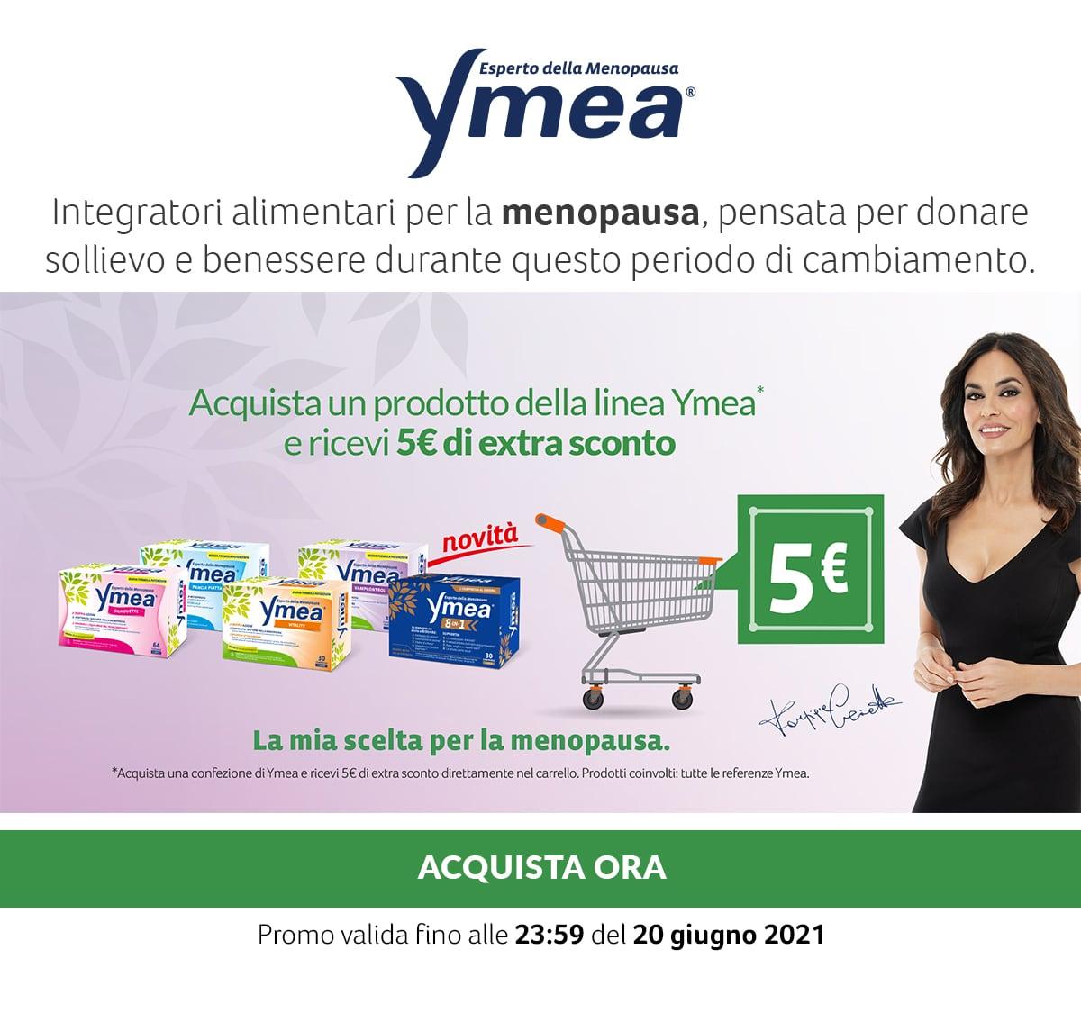 Ymea. 5€ di extra-sconto con l'acquisto di un prodotto della linea