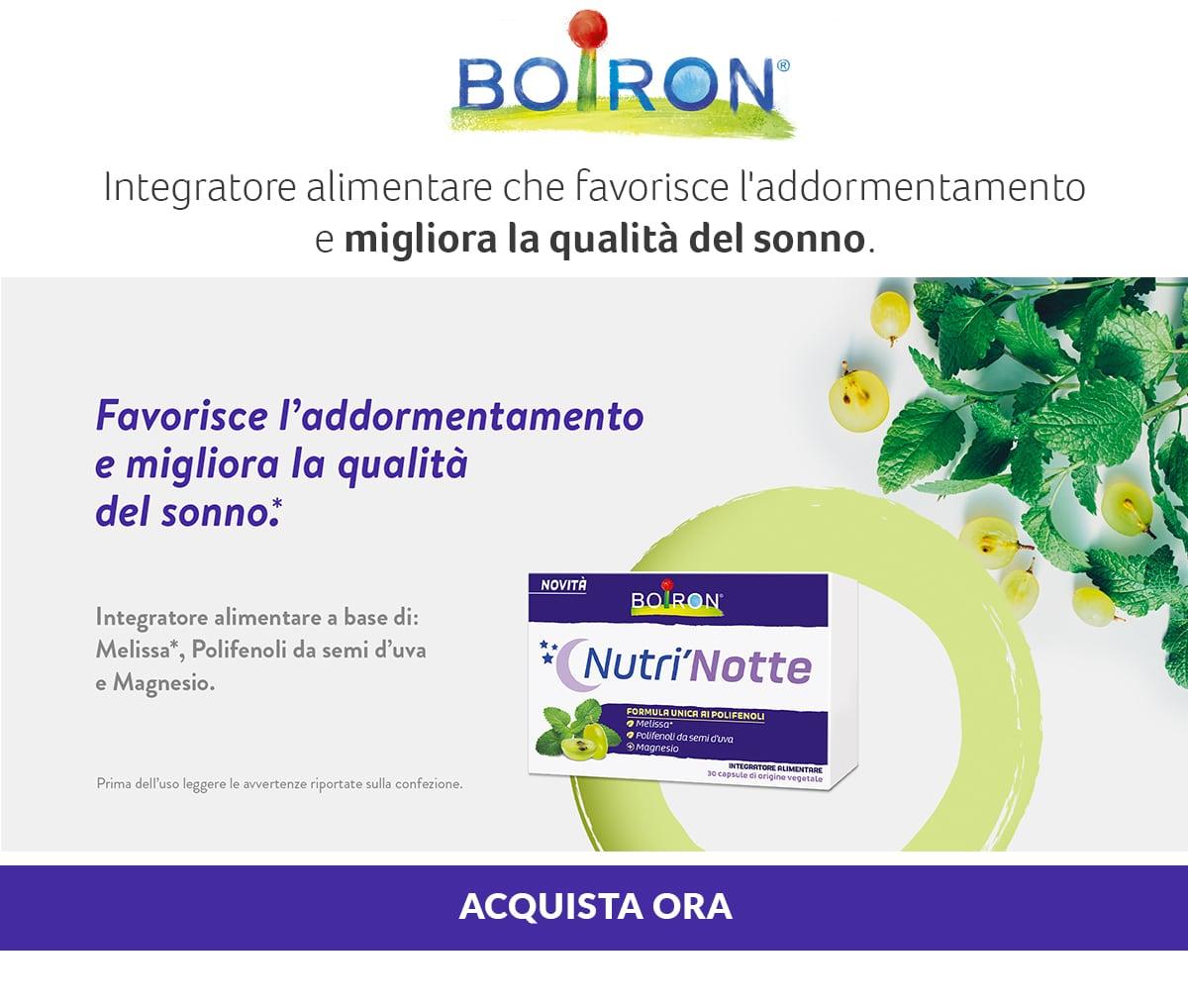 Boiron, Nutri Notte. Migliora la qualità del sonno