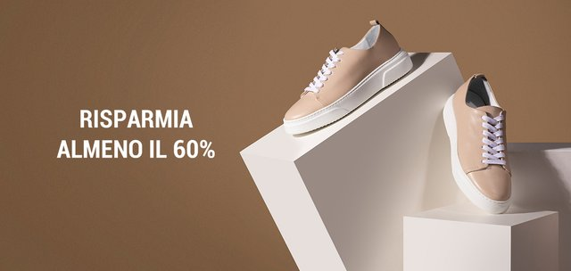 Scarpe: risparmia almeno il 60%