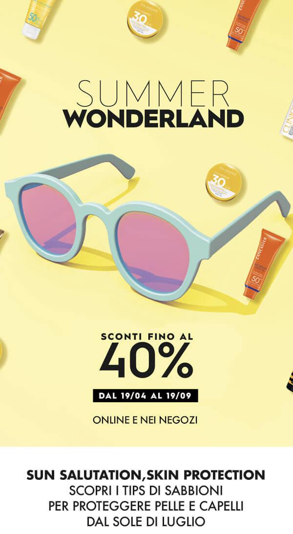 Summer Wonderland fino a -40% sui solari