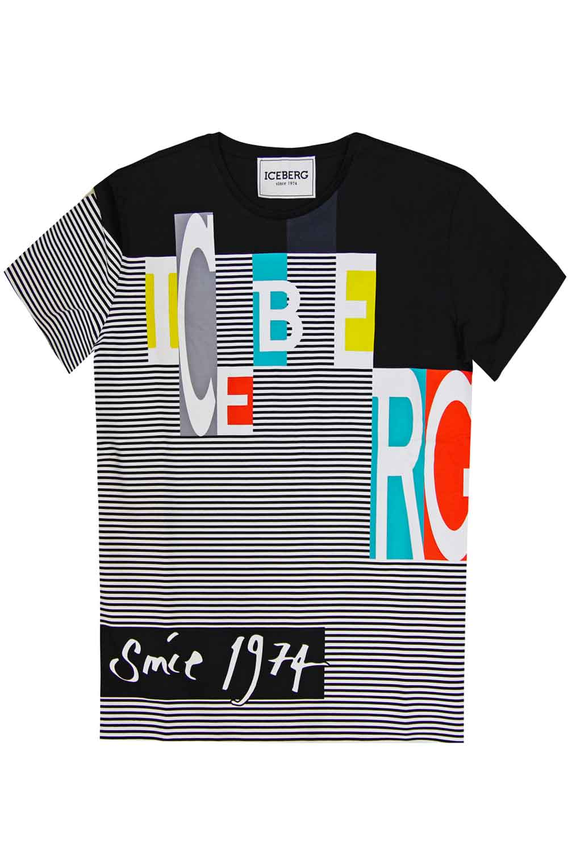 Tshirt con stampa multicolor - ICEBERG