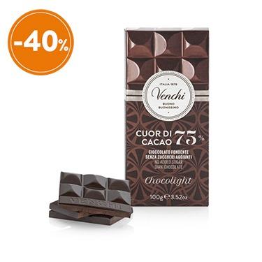 Cuor di cacao 75% chocolight