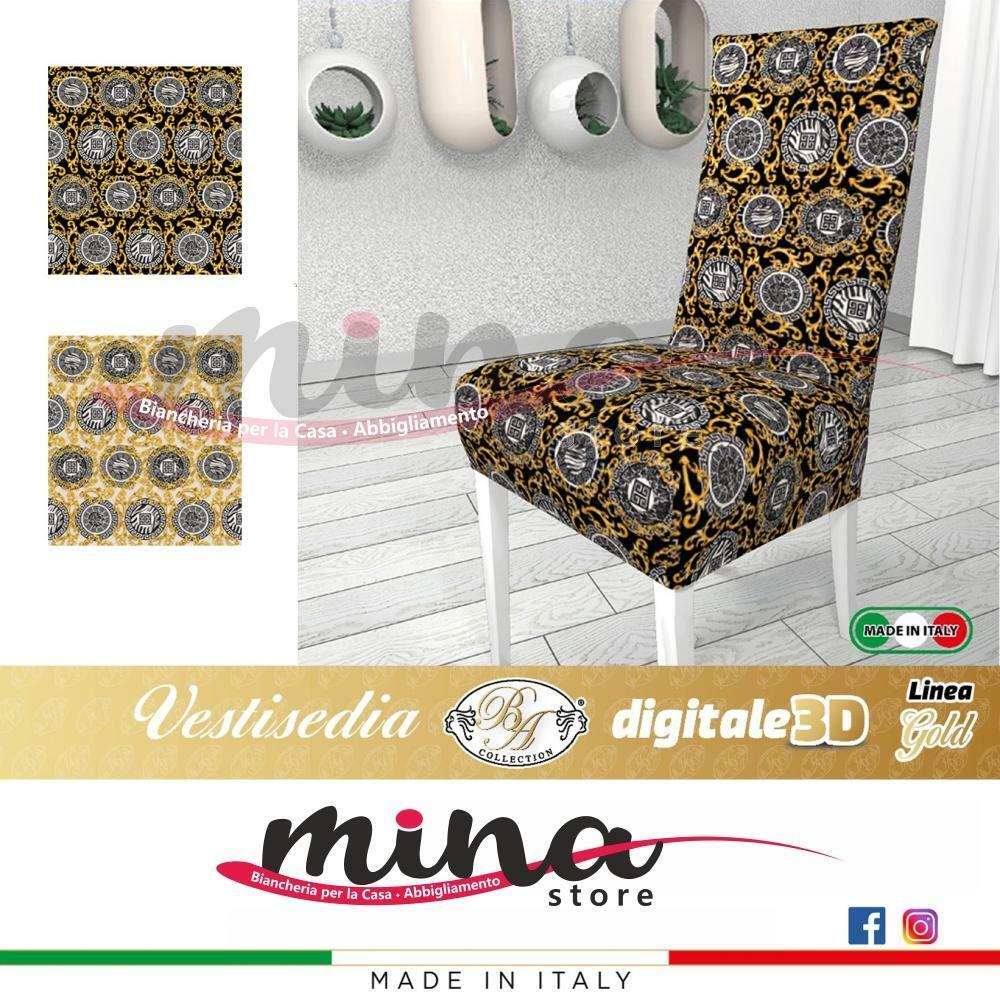 Coppia Vestisedia Linea Gold, 2 pezzi, vari colori, vesti sedia elasticizzato adattabile a qualsiasi sedia