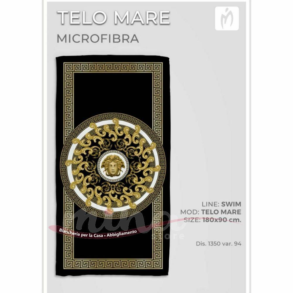 Telo mare Marta Marzotto in microfibra 180cm X 90cm estate 2021 gold