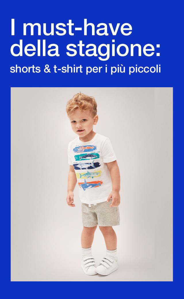 I must-have della stagione: shorts & t-shirt per i più piccoli