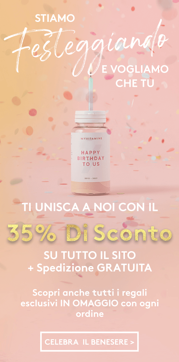 35% di Sconto su TUTTO + Spedizione GRATIS | Myvitamins Italia