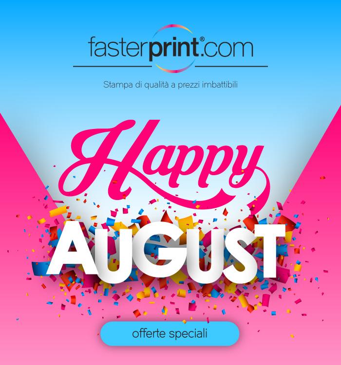 FasterPrint Offerte di Agosto