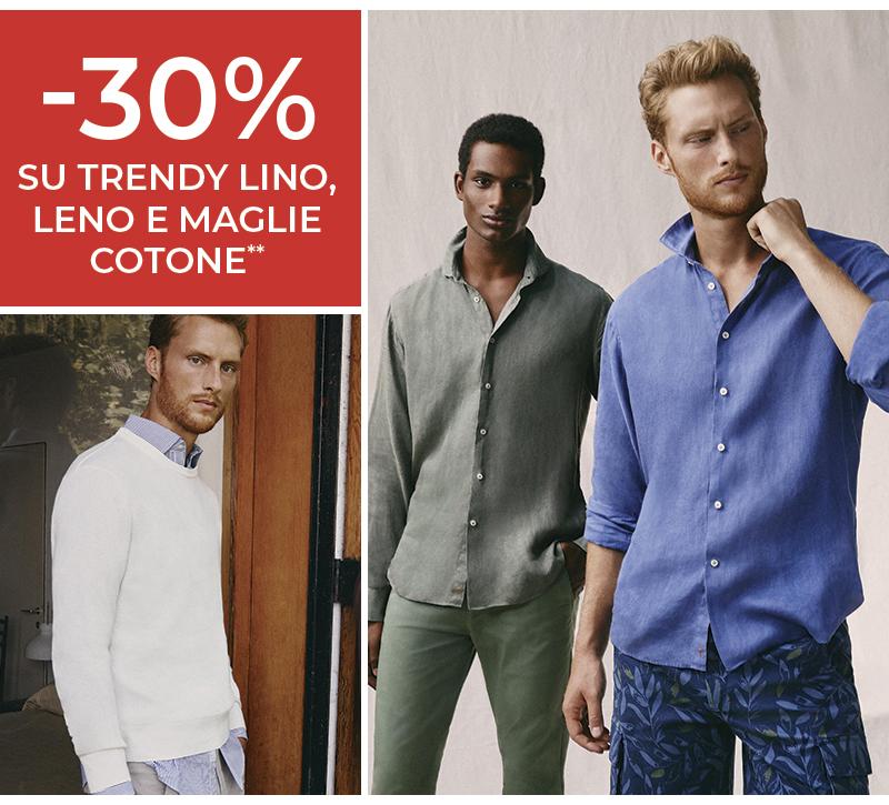 30% extra sulle grandi offerte -  Maglie in cotone, trendy lino, trendy leno