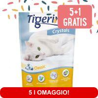 5 + 1 gratis! 6 x 5 l Tigerino Crystals