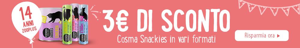 3€ di sconto Cosma snacks!