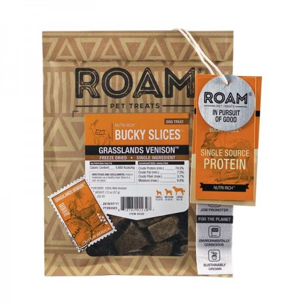 Roam Pet Treats Bucky Slices Selvaggina Snack per Cani - 57 g