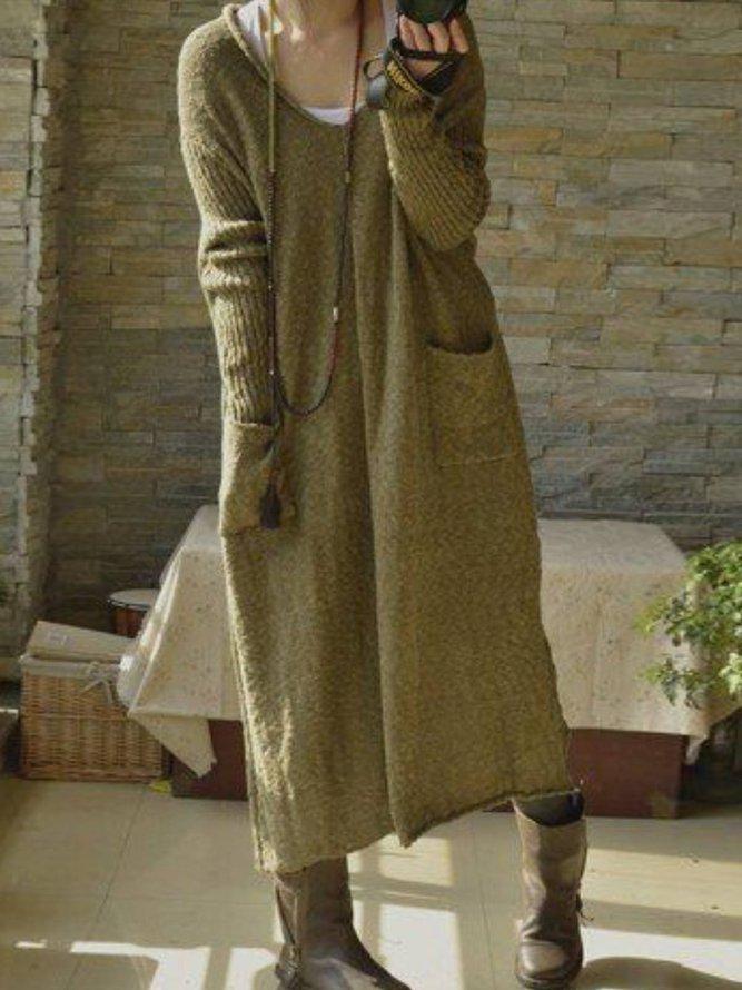 Casual Long Sleeve Dress...