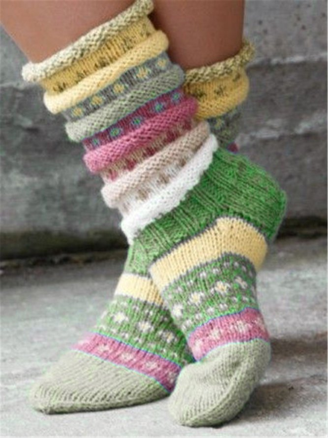 Warm Woolen Colorful knitted ...