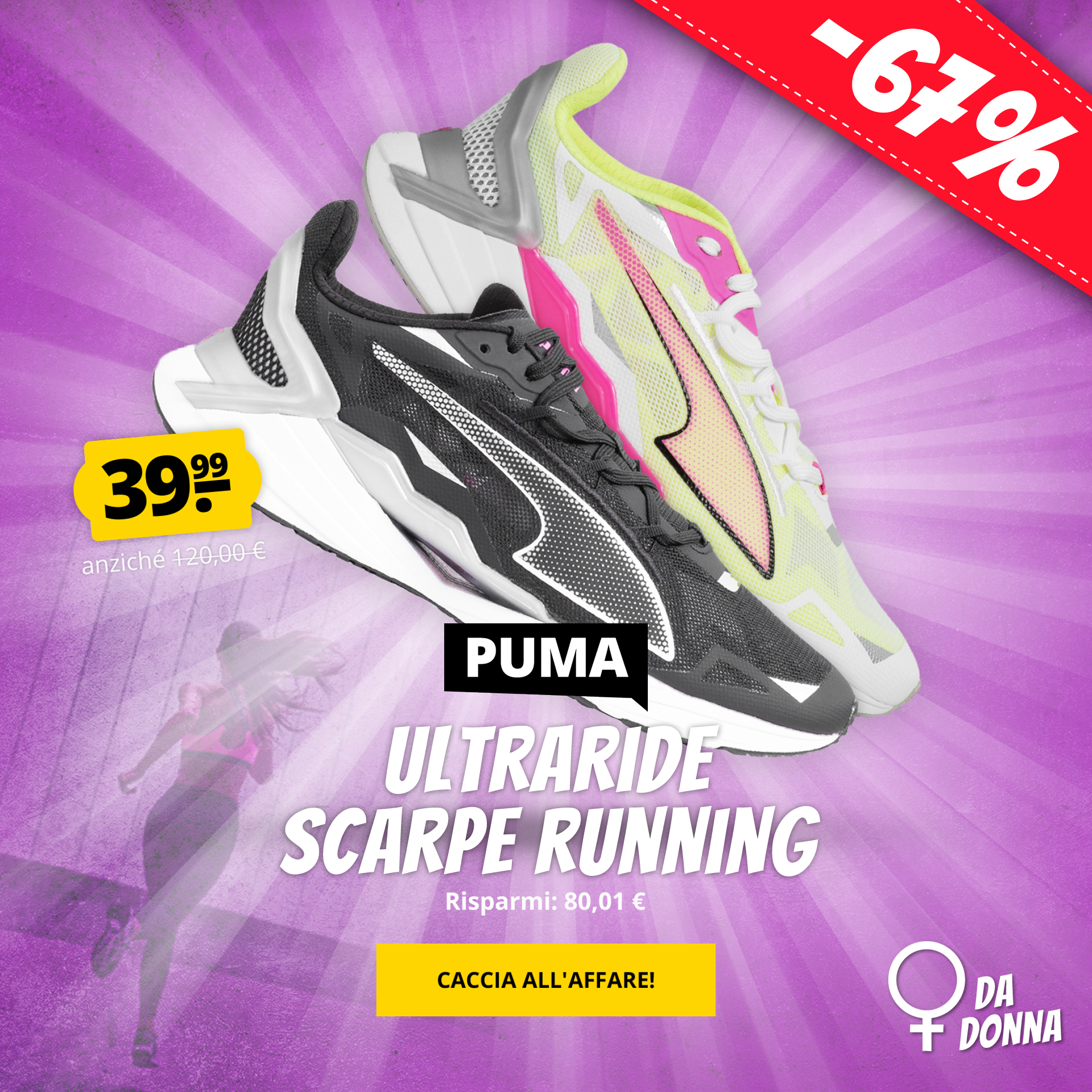 Scarpe running da donna PUMA UltraRide solo 39,99 €