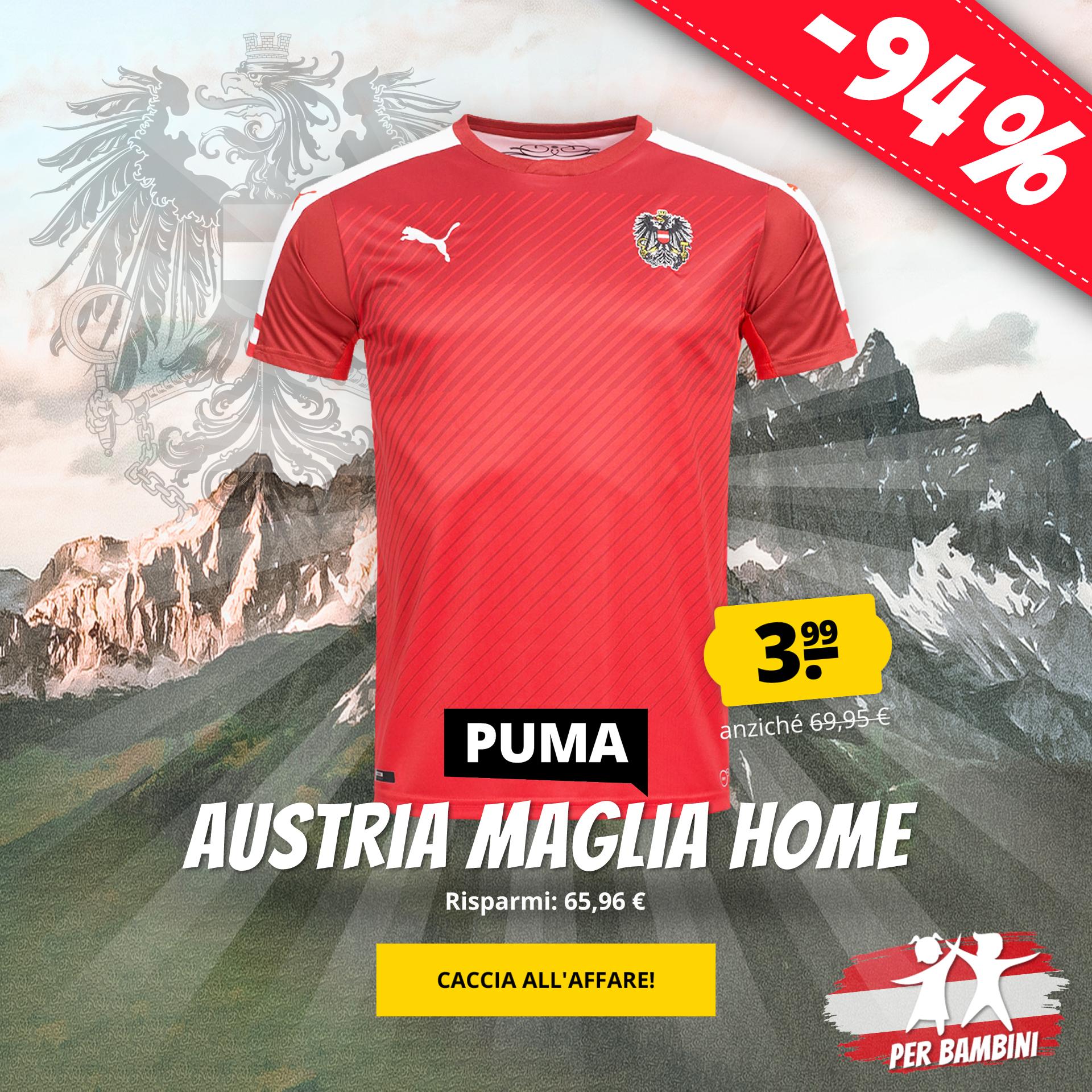 PUMA Austria Maglia home  da bambino solo 3,99 €