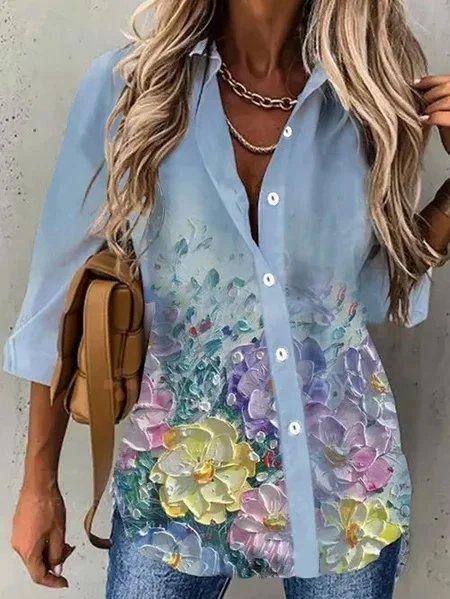 Cotton Long Sleeve Shirts & T...