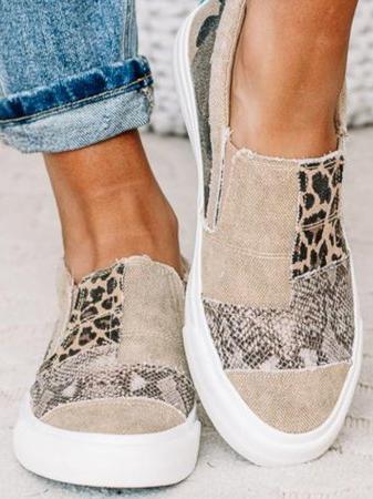 Daily Flat Heel Leather Sneak...
