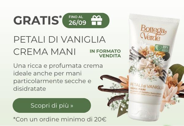 Petali di vaniglia eau de toilette gratis