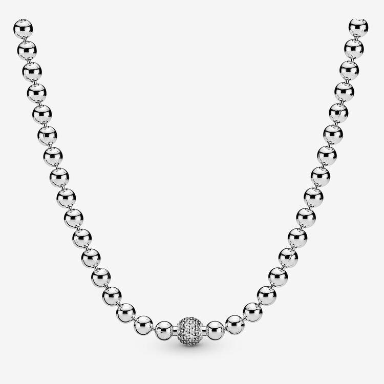 Pandora Beads & Pavé Necklace