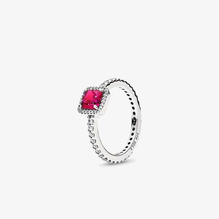 Timeless Elegance Synthetic Ruby  Clear Cz - Final Sale