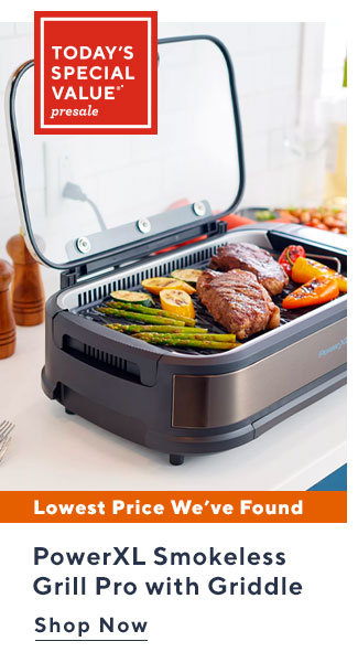 Today's Special Value®* Presale PowerXL Smokeless Grill Pro with Griddle Shop Now