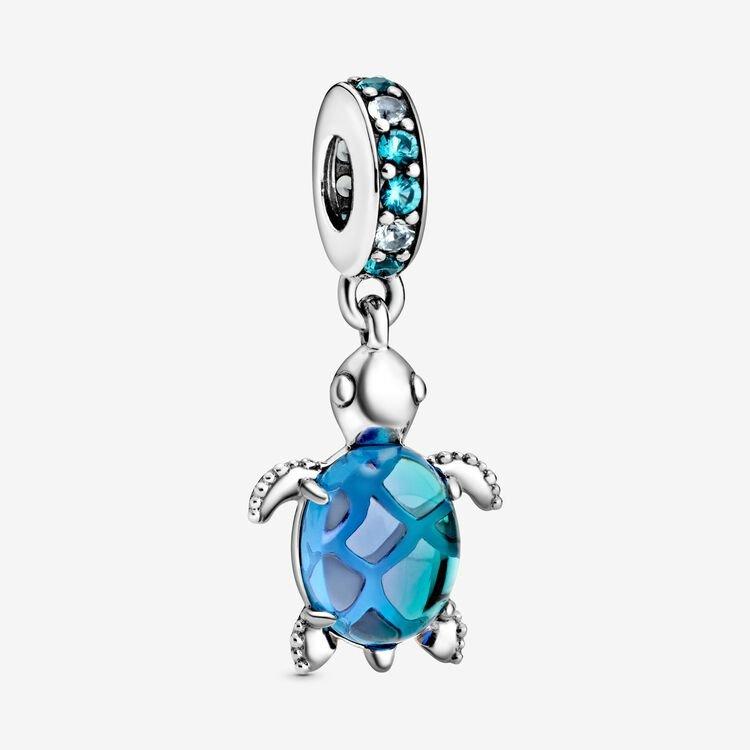 Pandora Murano Glass Sea Turtle Dangle Charm