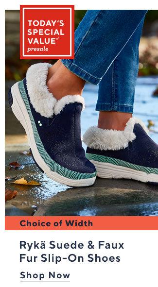 Today's Special Value®* Presale Rykä Suede & Faux Fur Slip-On Shoes Shop Now
