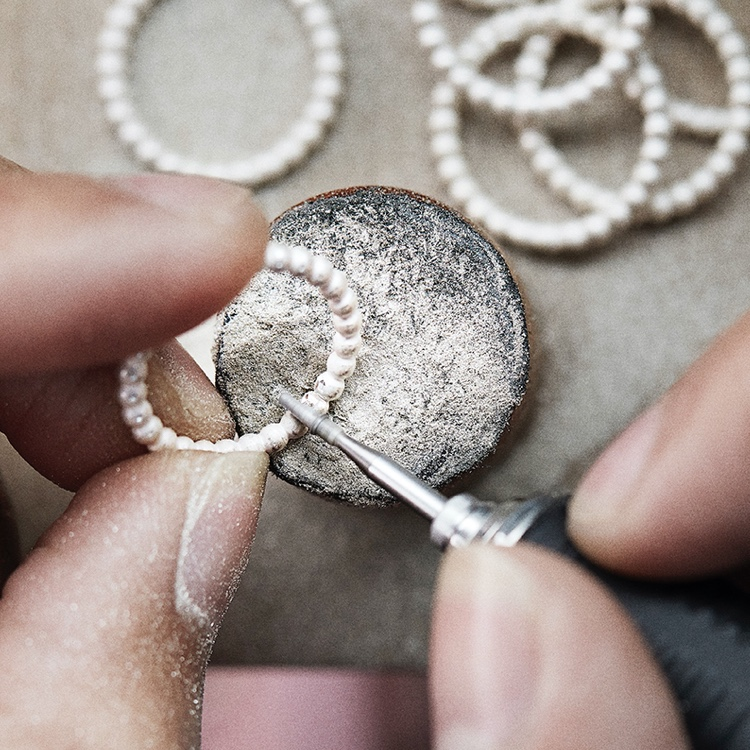 Our expert production specialists are masters of intricate hand-finishing jewelry production techniques
