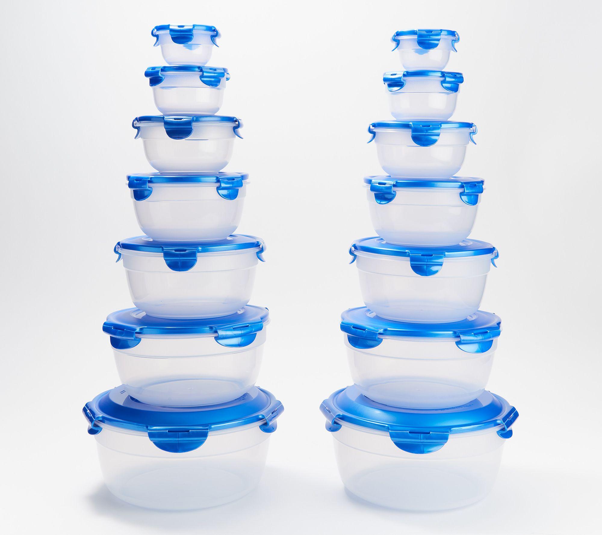 LocknLock 14-Piece Nestable Bowl Storage Set w/ Handle Lids