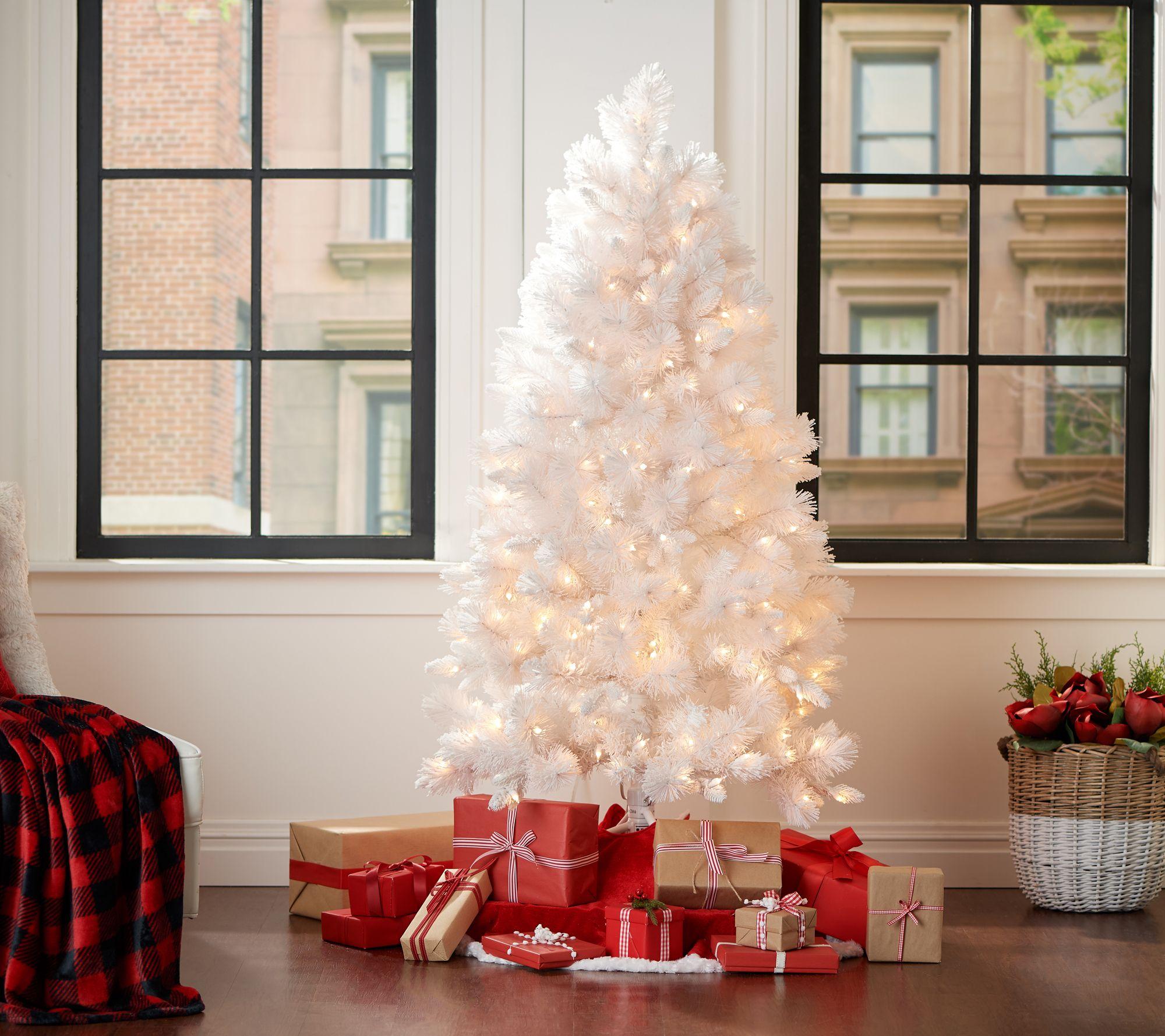Bethlehem Lights 5' Flocked White Pine Tree