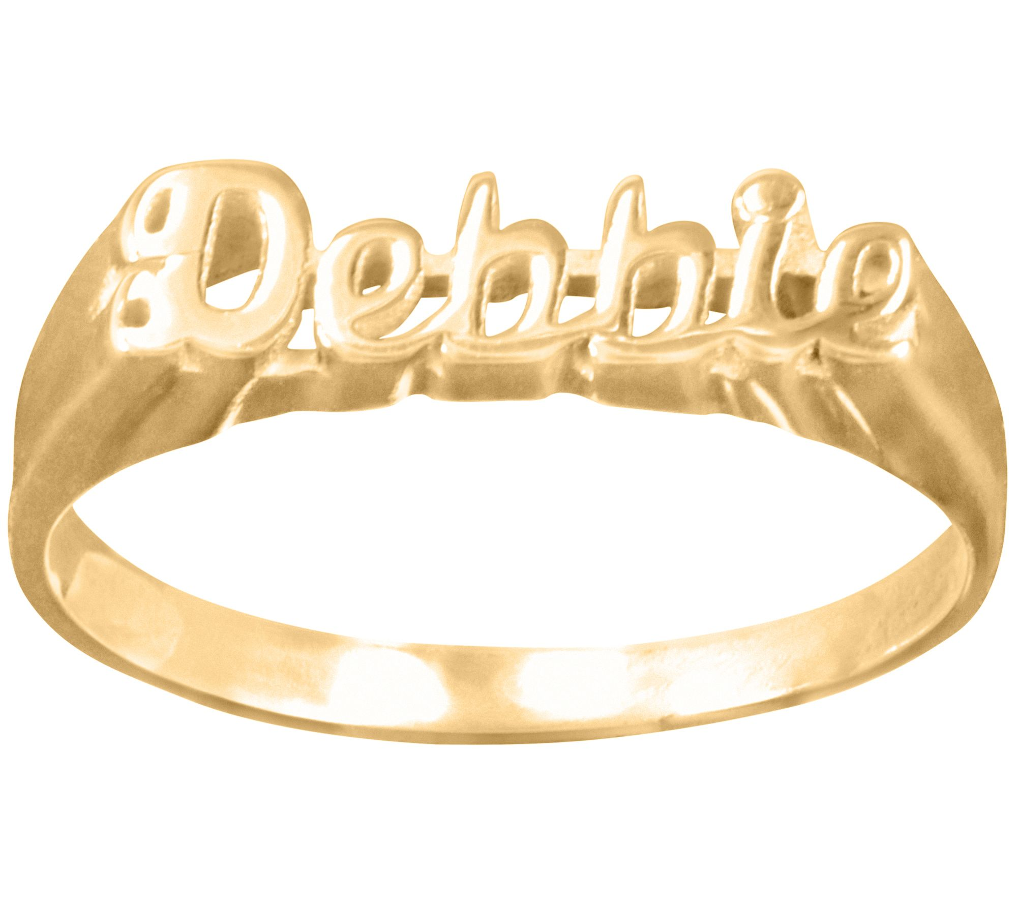 14K Gold-Plated Sterling Personalized Name Ring