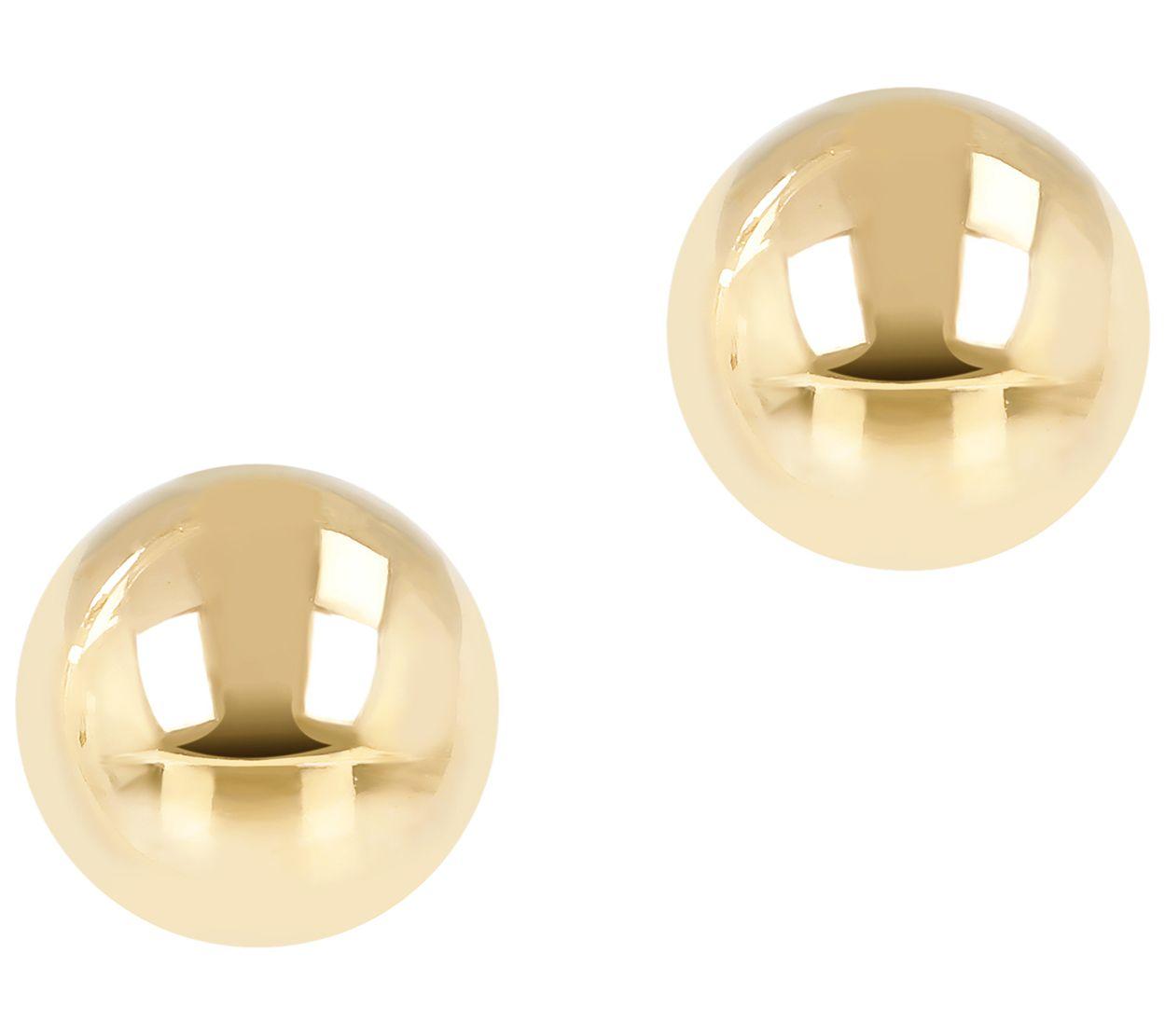 EternaGold Polished 8mm Ball Stud Earrings, 14K Gold