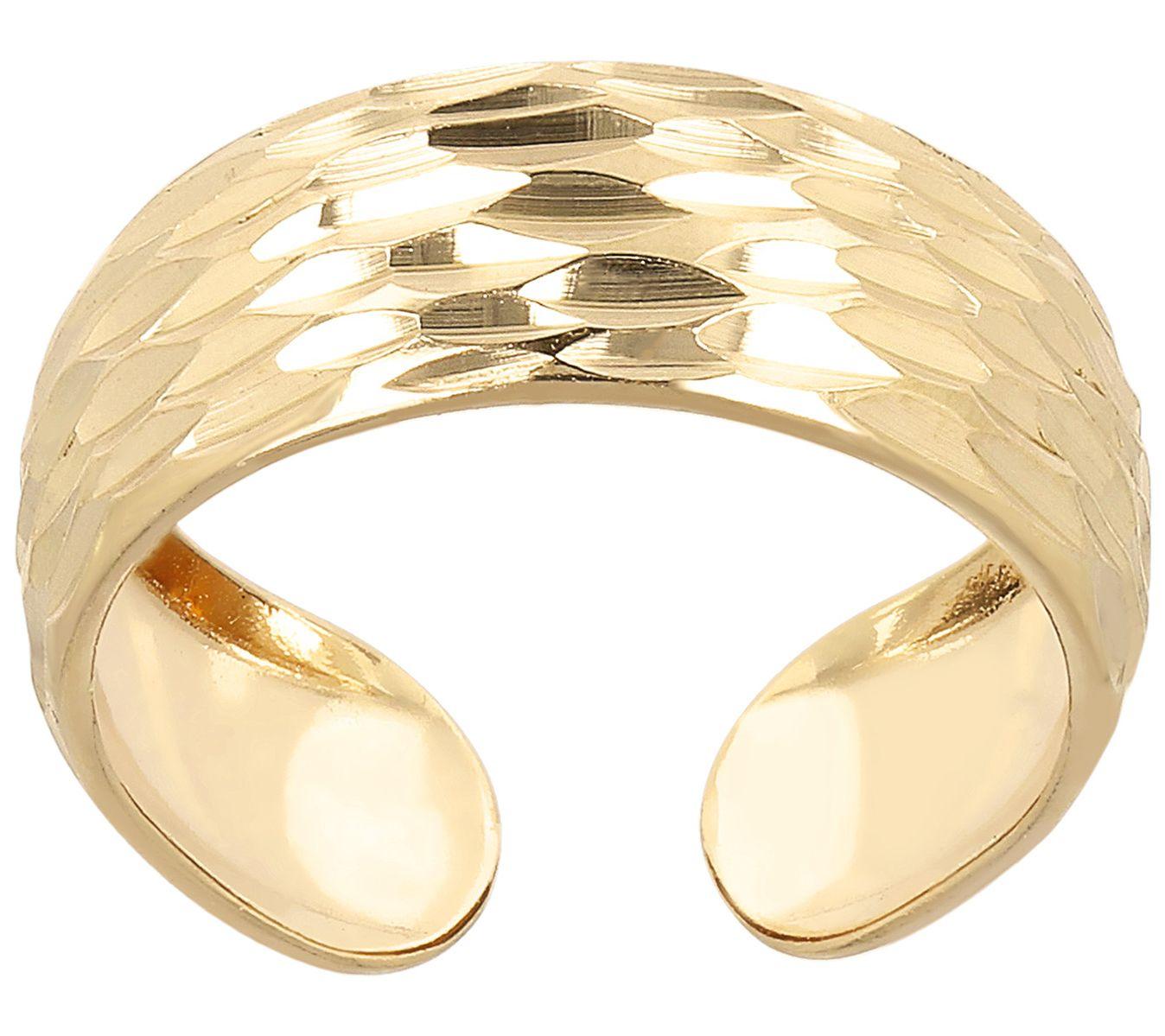 Veronese 18K Clad Adjustable Diamond-Cut Toe Ring