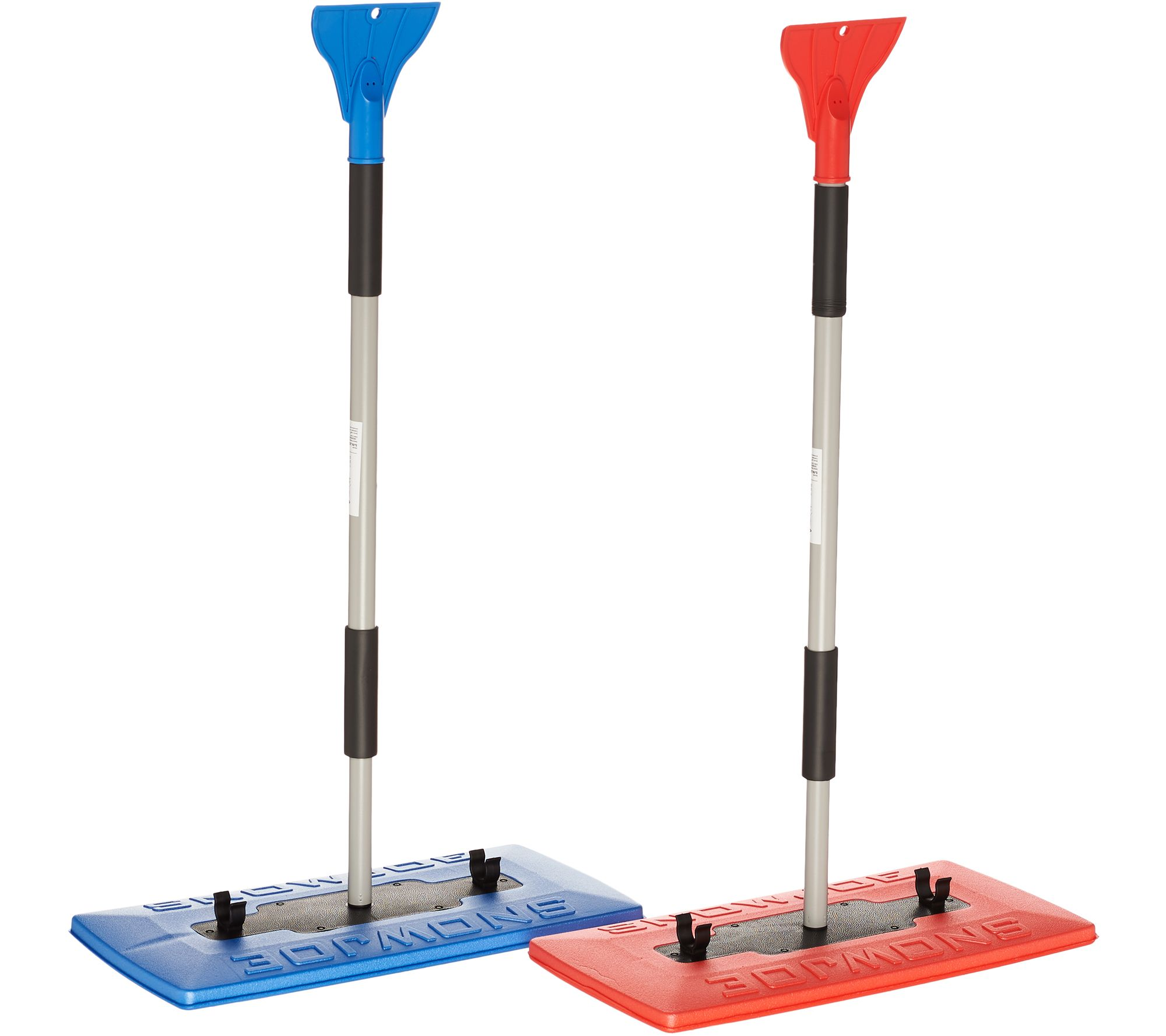 Snow Joe Set of 2 Oversized Snow Brooms w/ Ice Scrapers
